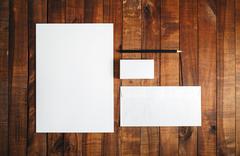 Blank brand template Stock Photos