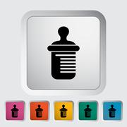 Feeding bottle vector flat icon - stock illustration