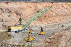 ore mining - stock photo