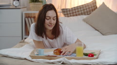 Breakfast from Secret Admirer Stock Footage