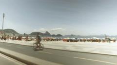 Copacabana Beach full of people, Rio De Janeiro Stock Footage