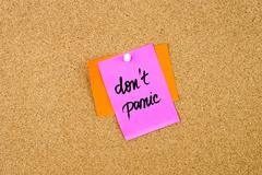 Do Not Panic written on paper note - stock photo