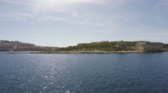 03 - From Sliema to Valletta with Ferry Boat, Malta, Real Time, 4k Stock Footage