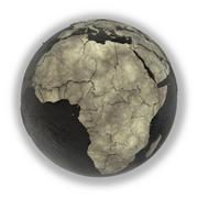 Africa on Earth of oil - stock illustration