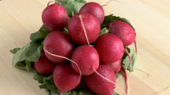 Portion Of Radish - stock footage