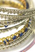 fashion bangles - stock photo