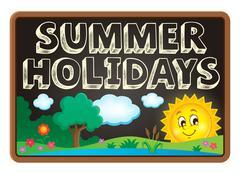School holidays theme image - eps10 vector illustration. - stock illustration