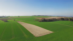 4K Farming country side aerial shot - stock footage