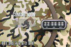 Military Background Coming Soon and countdown timer - stock illustration