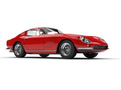 Red classic vintage sports car Stock Illustration