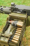 Machine gun ammo Stock Photos