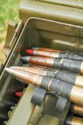Machine gun bullets Stock Photos