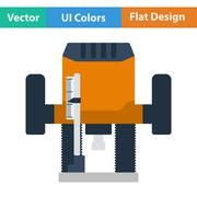 Flat design icon of plunger milling cutter - stock illustration