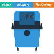 Flat design icon of vacuum cleaner Stock Illustration