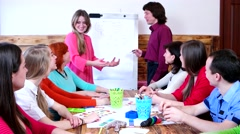 Training on interpersonal relationships leading scheme draws on the board. - stock footage