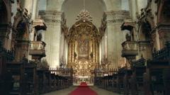 Monastery of São Miguel de Refojos de Basto, Braga, Portugal. Stock Footage