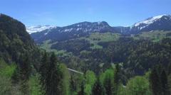 4K Alpine road aerial shot Stock Footage