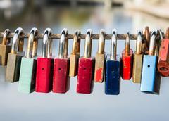 Locks as symbol for everlasting love Stock Photos