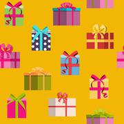 Gift Box Holiday Seamless Pattern Background Stock Illustration