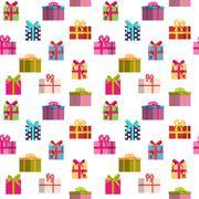 Gift Box Holiday Seamless Pattern Background - stock illustration