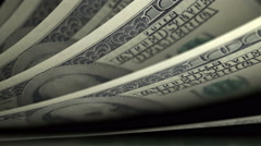 Cash counting. US Dollars (USD) banknotes. Easy to loop. Stock Footage