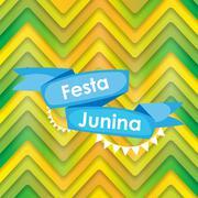 Festa Junina Holiday Background. Traditional Brazil June Festiva - stock illustration