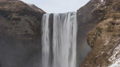 4K Time lapse close up Skogafoss waterfall - stock footage