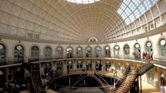 Interior Design Corn Exchange Leeds.UK - stock footage