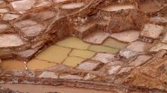 SALT MINING: Maras, Peru. Stock Footage