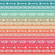 Hand drawn geometric ethnic tribal seamless pattern. Wrapping paper. Scrapbook Stock Illustration