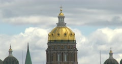 Iowa State Capital Building - Dome - Close Up - 4k Stock Footage