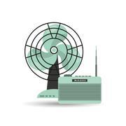 retro appliance design - stock illustration