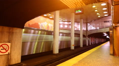 Timelapse 4K Dupont Station Toronto There are currently 4 subway lines Stock Footage