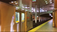 4K of Dupont Station Toronto There are currently 4 subway lines Stock Footage