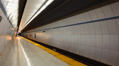 4K Timelapse Queens Park Station Toronto There are currently 4 subway lines Stock Footage