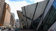 The front of the Royal Ontario Museum Toronto Stock Footage