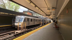 4k Rosedale Station Toronto There are currently 4 subway lines Stock Footage