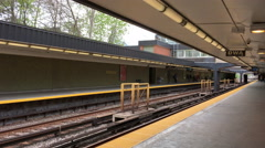4K of Rosedale Station Toronto There are currently 4 subway lines Stock Footage