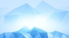 Blue polyonal futuristic contruction 3D render loop 4k UHD (3840x2160) Stock Footage