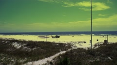 Beach Maintenance - Gulf of Mexico Beach - stock footage