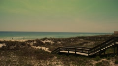 Walkway To The Beach - Florida Gulf of Mexico - stock footage