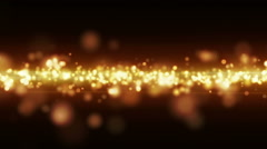 Yellow glow light stripe loopable animation Stock Footage