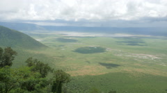 Ngorongoro conservation park view at viewpoint from above Stock Footage