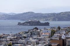 San Francisco Bay and Alcatraz National Park - stock photo