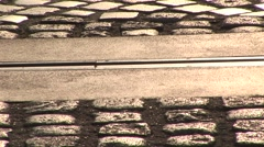Closeup of Prime meridian line - stock footage