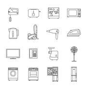 Home household appliances - stock illustration