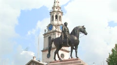 Equestrian Statue of George IV Stock Footage