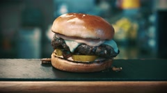 Burger Grilled Veggie - stock footage