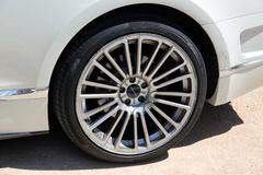 Tuning wheels for Bentley Continental GT Mansory Stock Photos