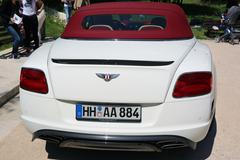 White Continental GT in Nice, France Stock Photos